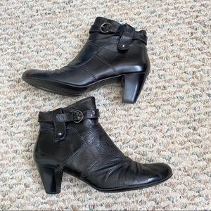 Browns Couture Italian Leather Black Ankle Boots